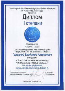 Образец Сертификата Участника Олимпиады