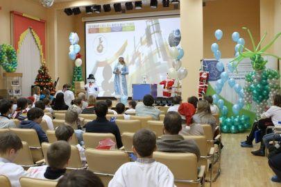 """Все собрались в актовом зале на Новогоднюю Елку """"В поисках Нано"""""""