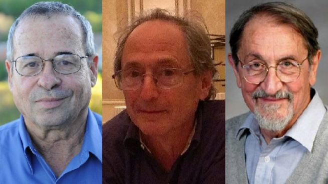 Лауреаты Нобелевской премии по химии 2013 года. Слева направо: Ари Уоршел, Майкл Левитт и Мартин Карплюс (фото: timesofisrael.com)