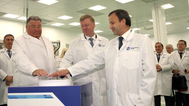 Церемония открытия производства оптоволокна