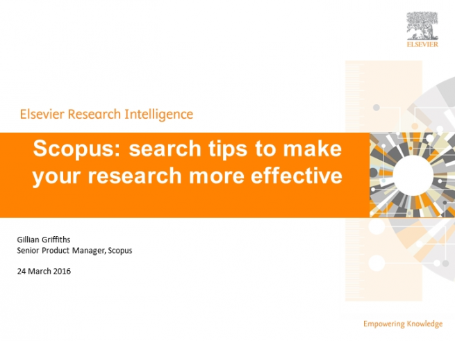 Scopus: search tips to make your research more effective